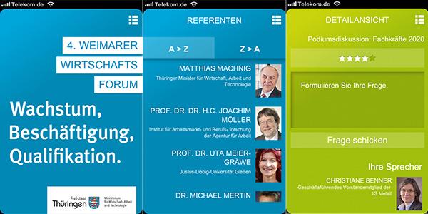 Konferenz App für Weimarer Wirtschaftsforum