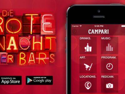Die rote Nacht der Bars – Campari Event App