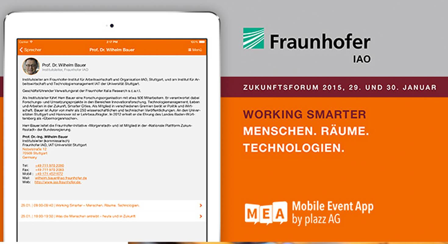 Fraunhofer Zukunftsforum 2015 mit der MEA an Bord