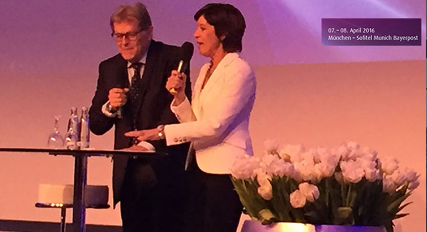 Norbert Haug mit Ursula Heller vom Bayerischen Rundfunk