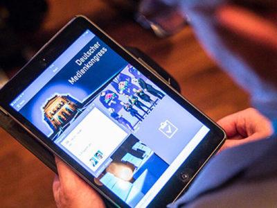 Deutscher Medienkongress 2017 mit digitalem Kongress-App Highlight