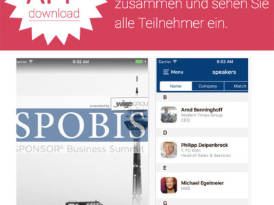 Event App beim SPOBIS 2017: plazz wieder Partner bei Europas größtem Sportbusiness-Kongress