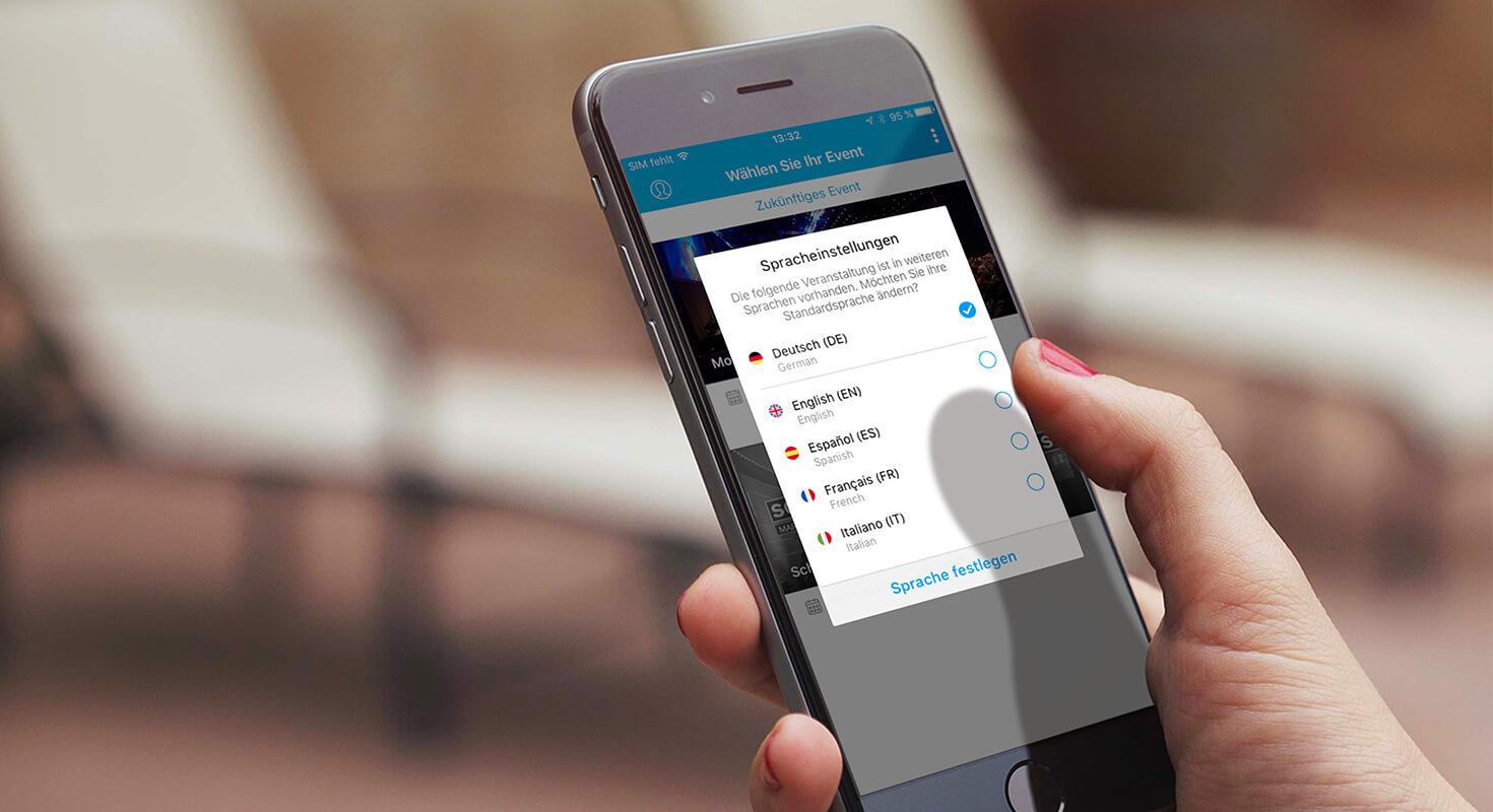 App Sprache ändern im Front-End