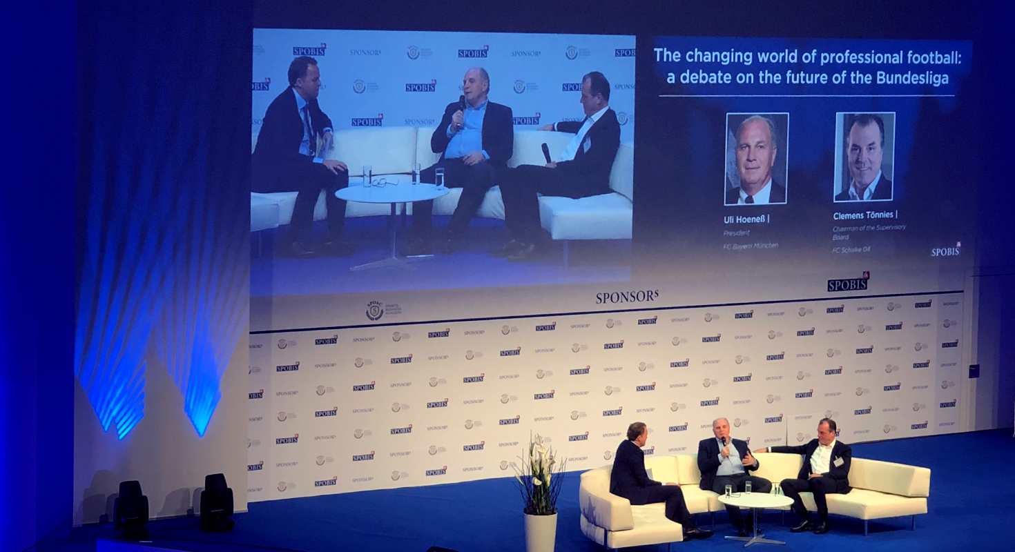 Uli Hoeneß und Clemens Tönnies auf der SPOBIS 2018