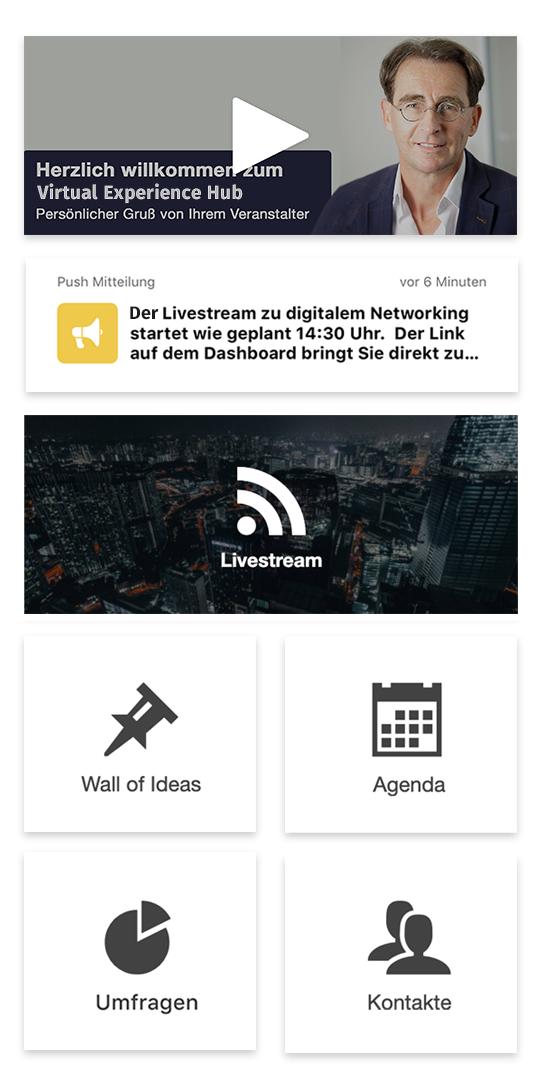 virtuelle events - dashboard