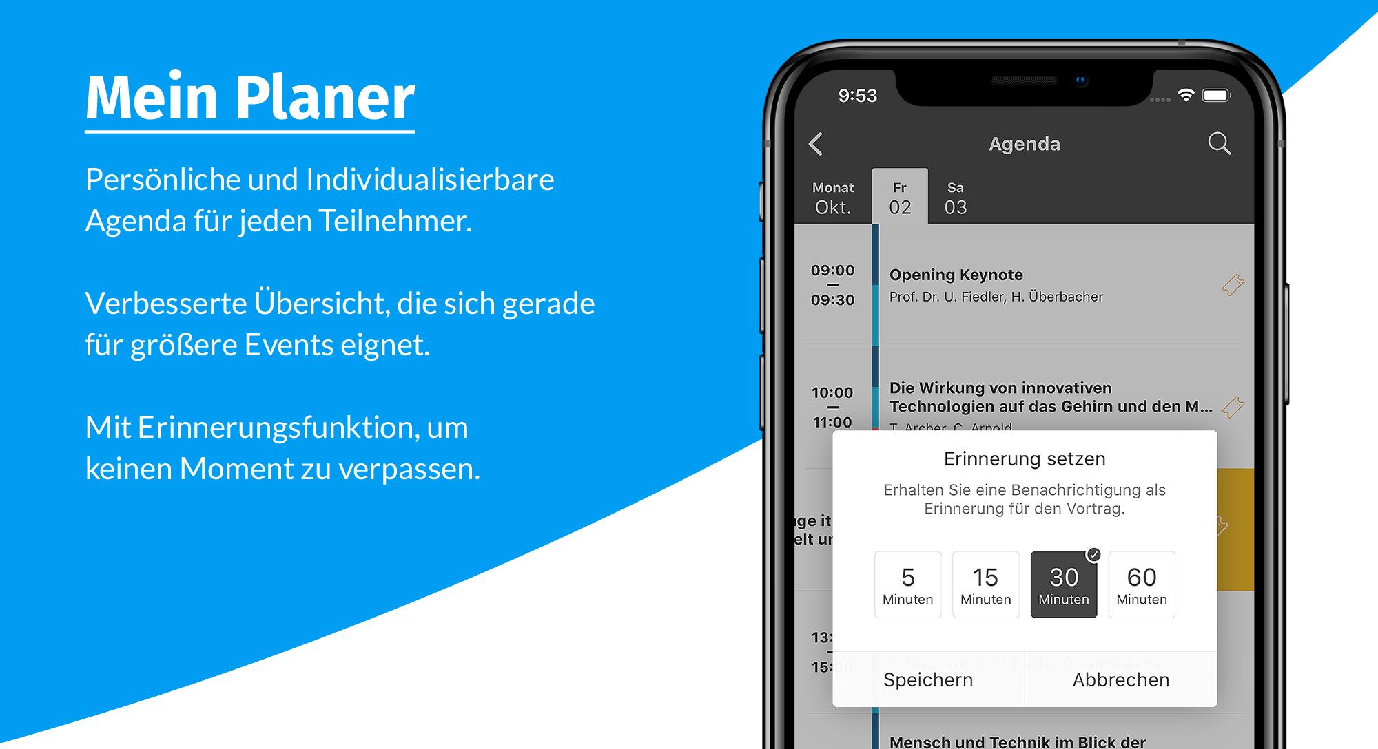 event app - mein planer details