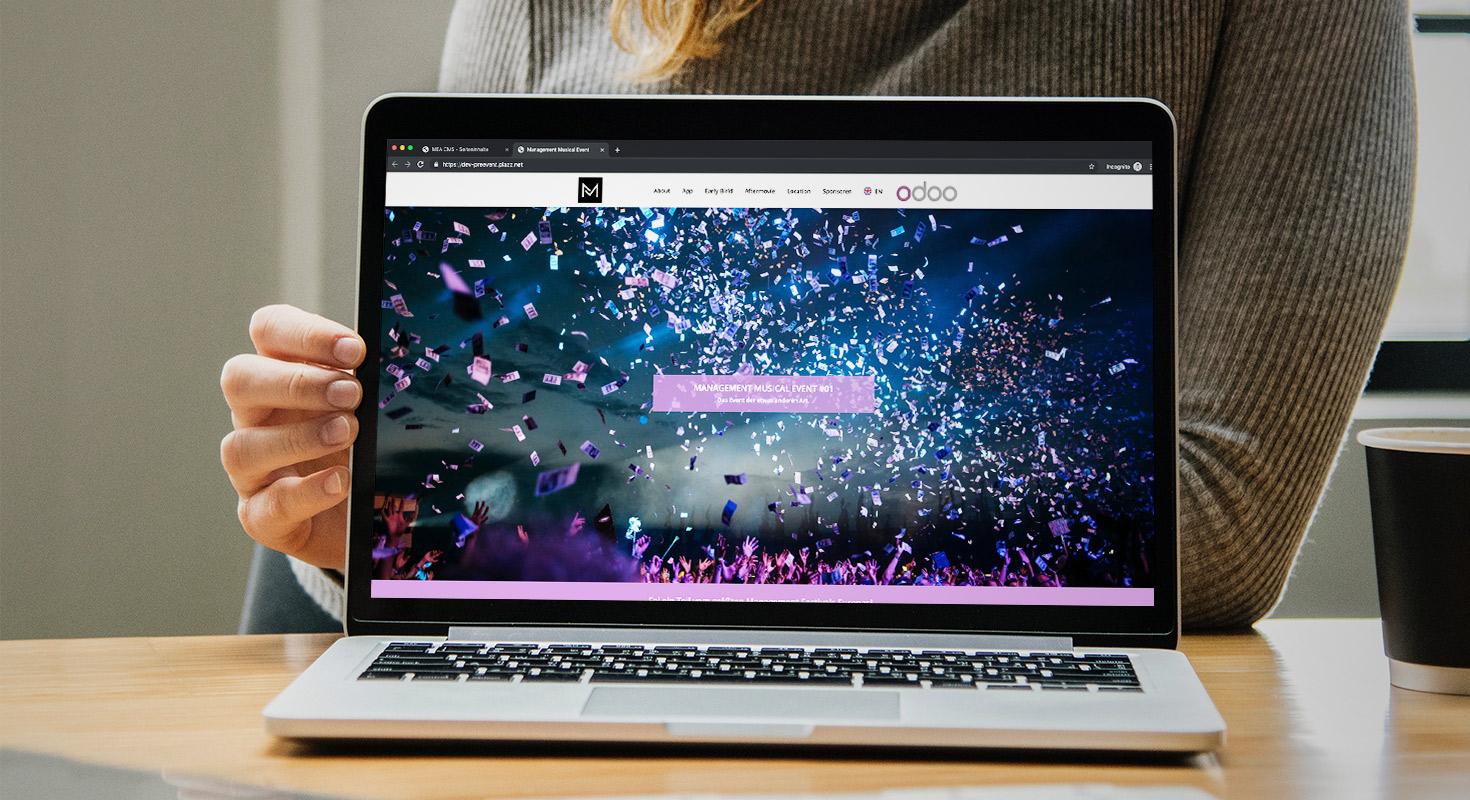 pre event page - laptop