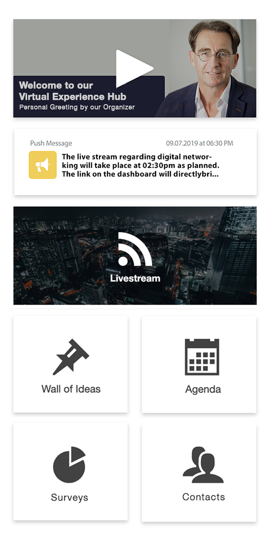 virtual events dashboard