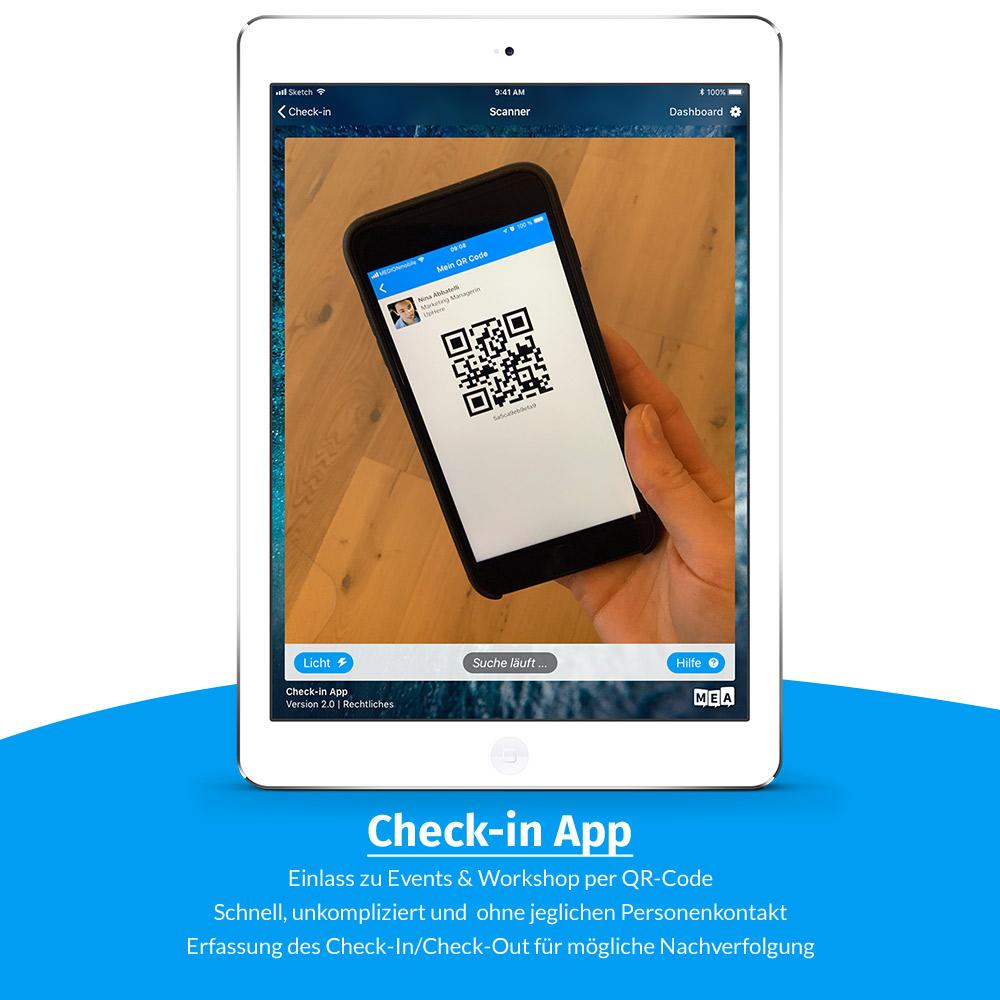 check-in app - covid