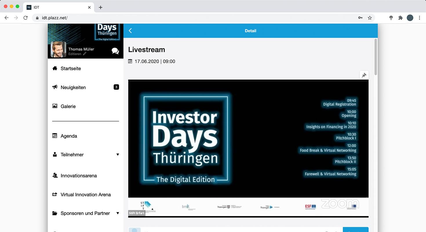 investor days 2020 live stream