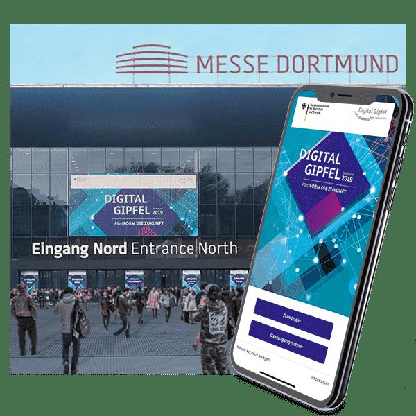 hybride event app - digital gipfel 2019