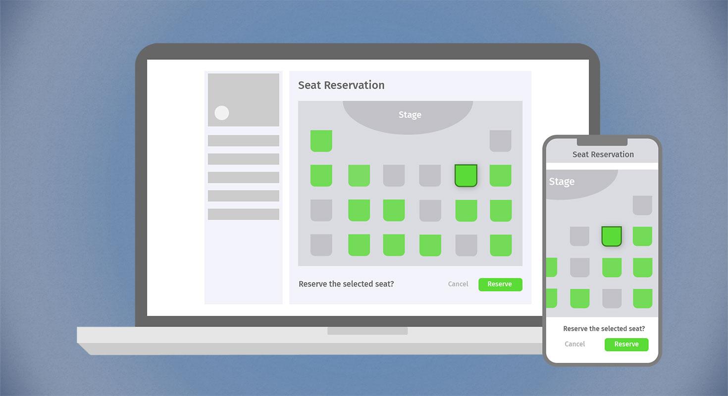 event app hybrid events seat reservation