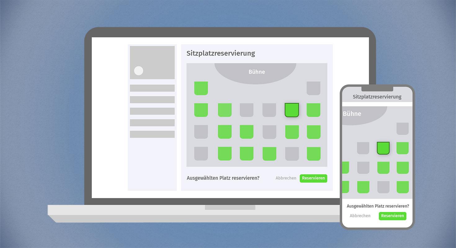event app hybride events sitzplatzreservierung