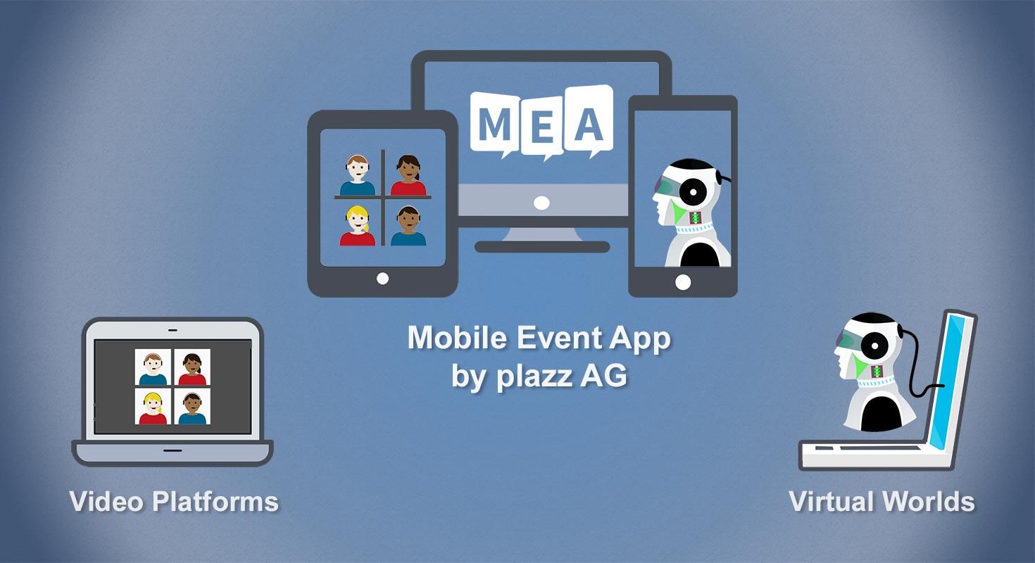 mobile event app vergleich virtuelle welten video plattform