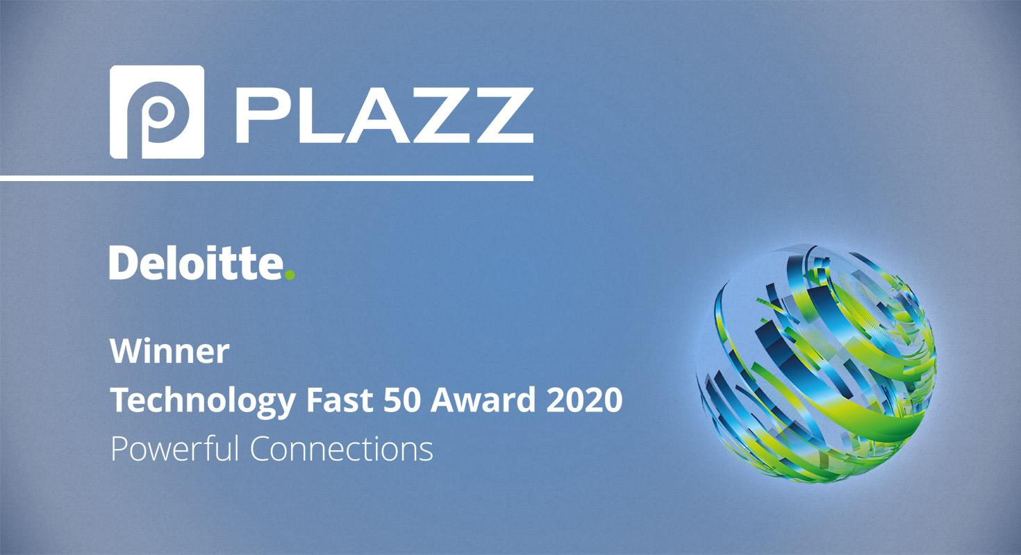 plazz AG fast50 award winner