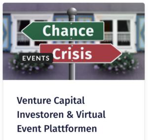 Venture Capital Investoren & Virtual Event Plattformen